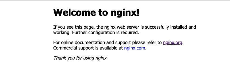 出现类似这样的页面表示Nginx服务已可用